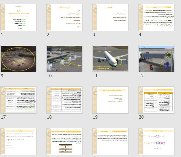 """پاورپوینت و pdf درباره """"بهینه سازی برنامه ریزی گیت های فرودگاهی"""" در 46 اسلاید"""