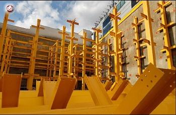 پروژه سازه های فولادی (پارکینگ طبقاتی با سیستم قاب خمشی دارای بادبند در هر دو راستا و سقف تیرچه بلوک) بصورت دستی و با نرم افزار ETABS 2016