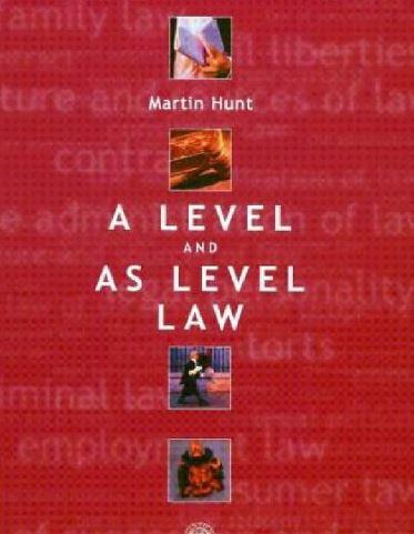 دانلود کتاب کامل متون حقوقی به زبان انگلیسی  A Level and AS Level Law