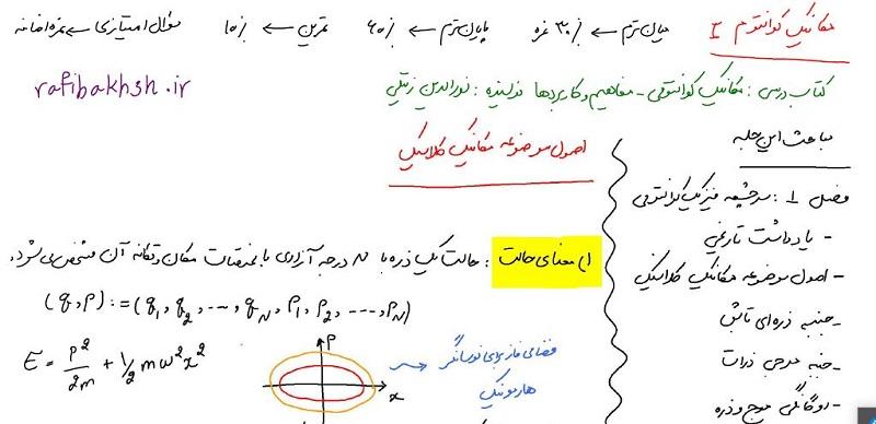 جزوه فارسی مکانیک کوانتومی 1و 2