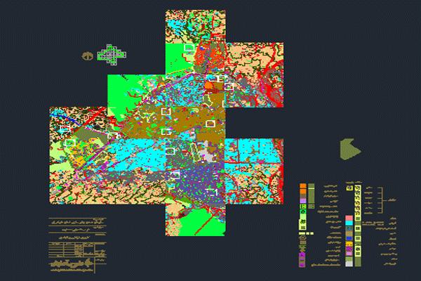 دانلود نقشه اتوکد شهر ساری با جزئیات کامل