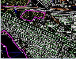 اتوکد و شیپ فایل شهر یزد