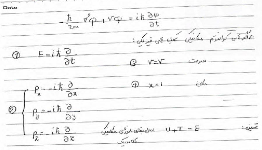 جزوه دست نویس فیزیک هسته ای ۱ +حل مسائل