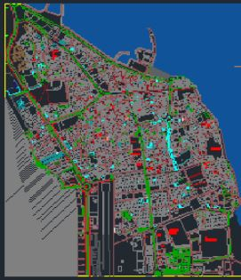 فایل کامل اتوکد نقشه های جزیره قشم