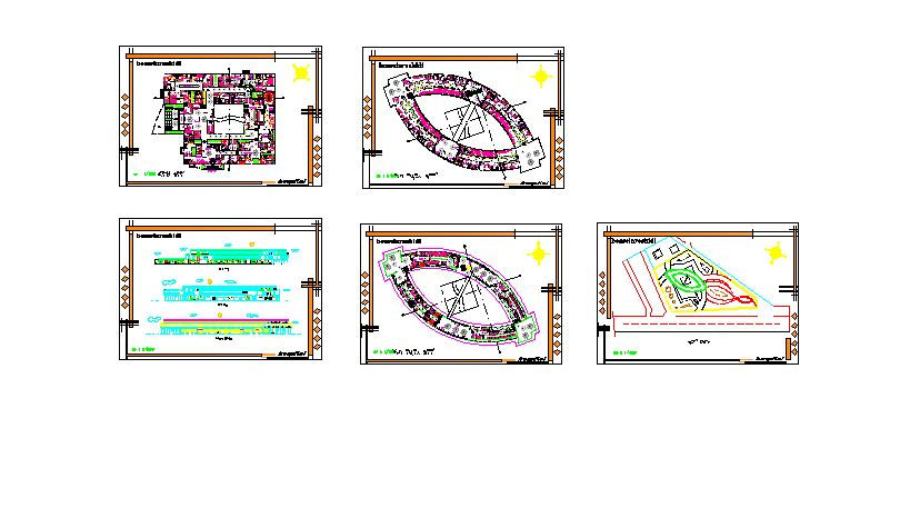 پروژه اجرایی و کامل بیمارستان (پلان، برش، نما) فرمت DWG