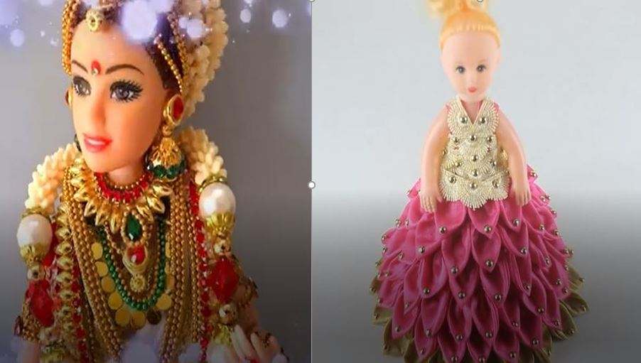 خرید فیلم آموزش ساخت عروسک باربی هندی و یک عروسک زیبای دیگر