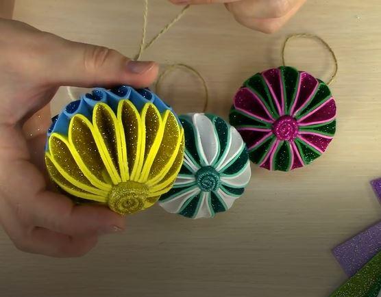 خرید آموزش ساخت توپ زیبای رنگارنگ برای کاردستی