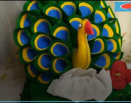 خرید فیلم آموزش ساخت جادستمالی و جاشکلاتی به شکل طاووس