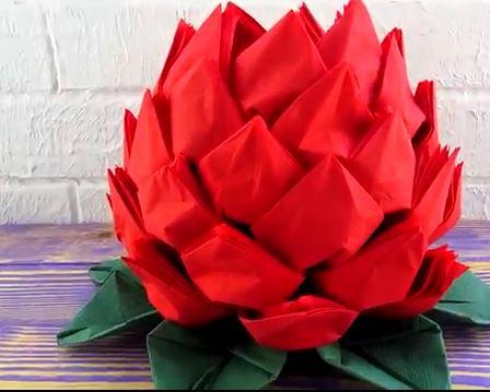 خرید فیلم آموزش گل پارچه ای بسیار زیبا
