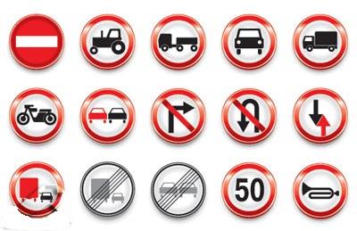 علائم راهنمایی و رانندگی به سه زبان انگلیسی