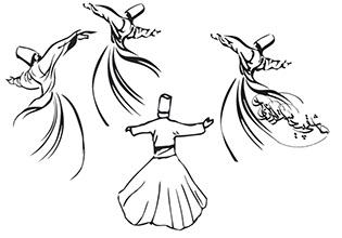 طرح کول رقص سما (عاشقی پیداست از زاری دل)