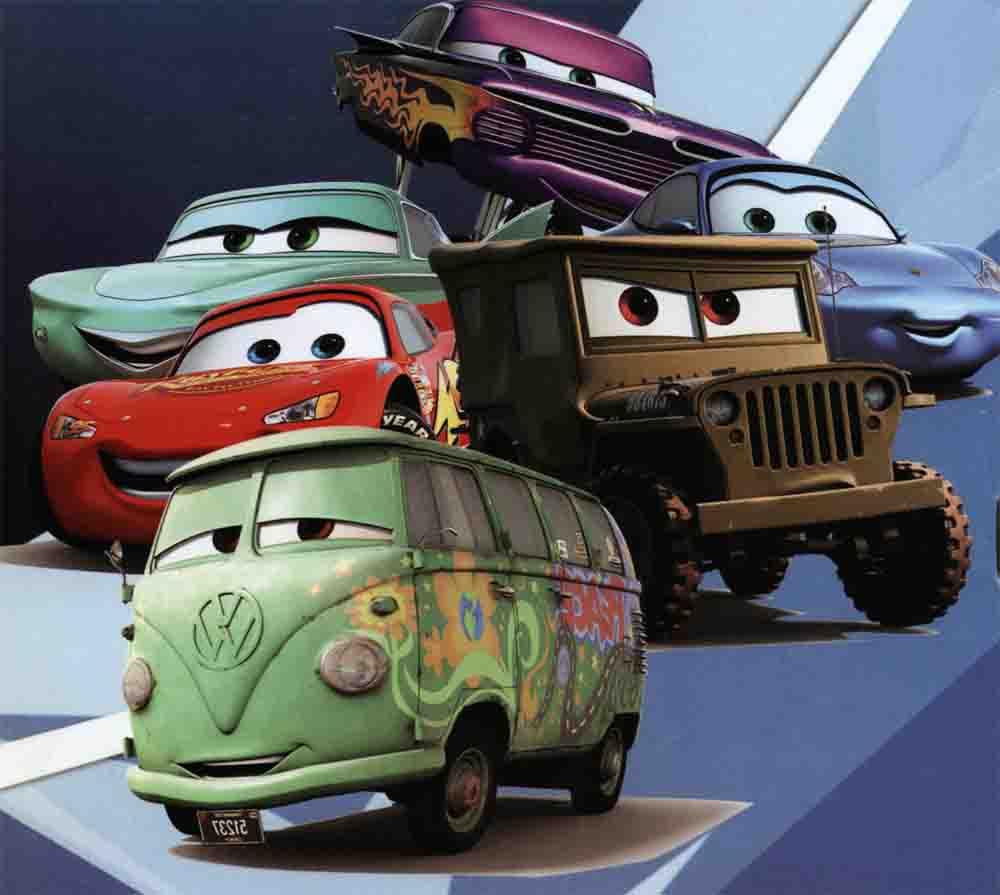 کارتون ماشین ها ( مجموعه نقاشی رنگ آمیزی برای کودکان )