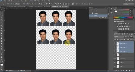 آموزش چیدن عکس سه در چهار(4×3) در کاغذ عکس