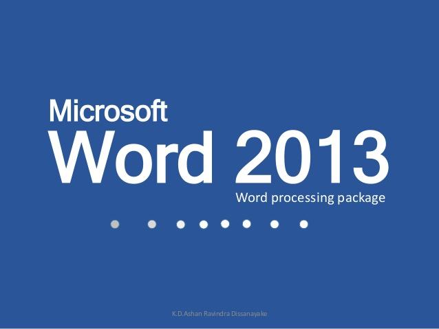 نرم افزار موبایلی آموزش word 2013