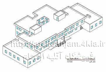 دانلود طرح و نقشه مدرسه راهنمایی 18 کلاسه