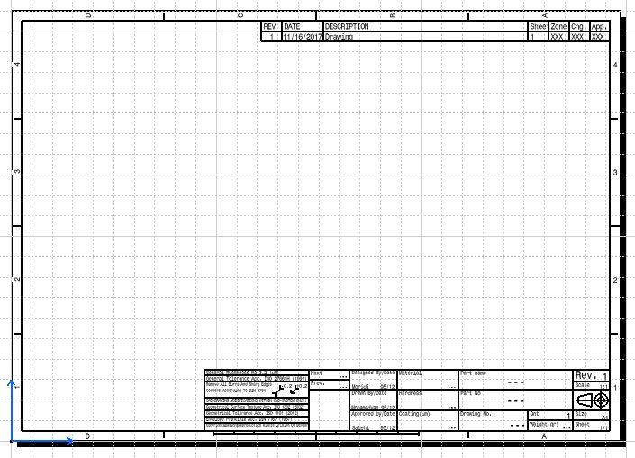 کادر و جدول -  استانداردهای اصلاح شده ترسیم