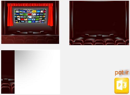 قالب پرده سینما