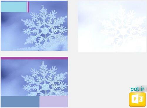 قالب دانههای برف