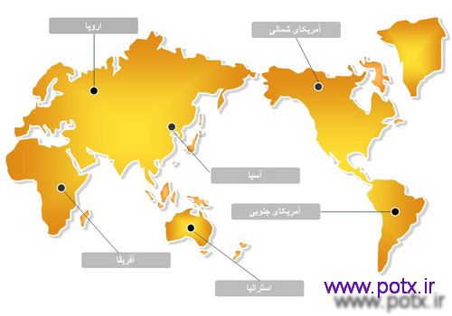 دیاگرام نقشه جهان