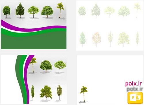 قالب درختان