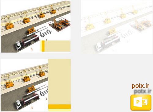 قالب لوله گذاری انتقال گاز