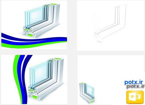 قالب پنجره دو جداره