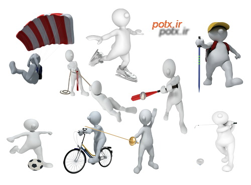 آدمک های سه بعدی  حوزه ورزش