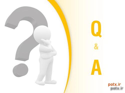 نمونه اسلاید پرسش و پاسخ