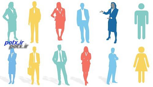12عدد آیکن تمام قد زن و مرد مربوط به کسب و کار