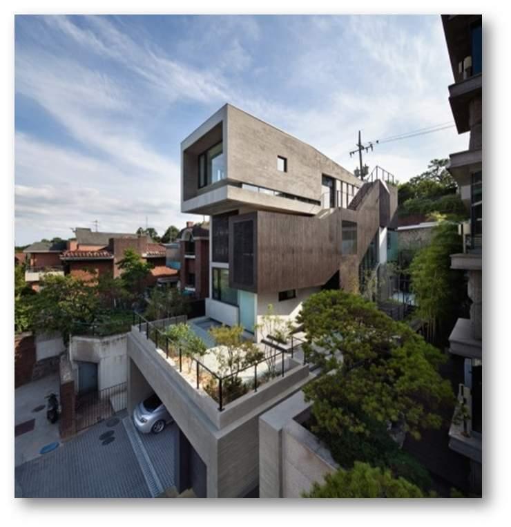پاورپوینت بررسی طراحی خانه ای برای سه نسل متفاوت - نمونه مشابه مسکونی