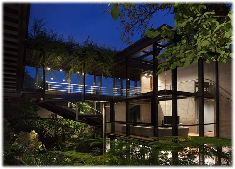 پاورپوینت بررسی خانه ی شیشه ای در دل جنگل - نمونه مشابه مسکونی