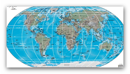 اطلس رنگی جهان -  Physical Map of the World